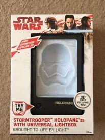 ( New ) Star Wars Holopane Mood Lamp - Stormtrooper or Darth Vader