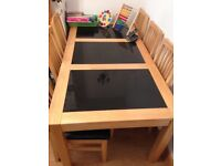 Oak Dining Table And 6 Chairs Set!