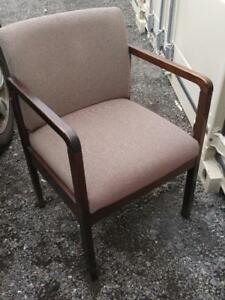 Oakville Wood Side Chair Retro Vintage Square Strong Sturdy Brown Living Room Minimalist style Sturdy Smoke-free