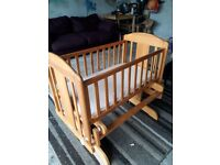Pine cradle and mattress