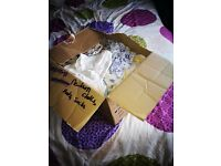 Box of newborn clothes