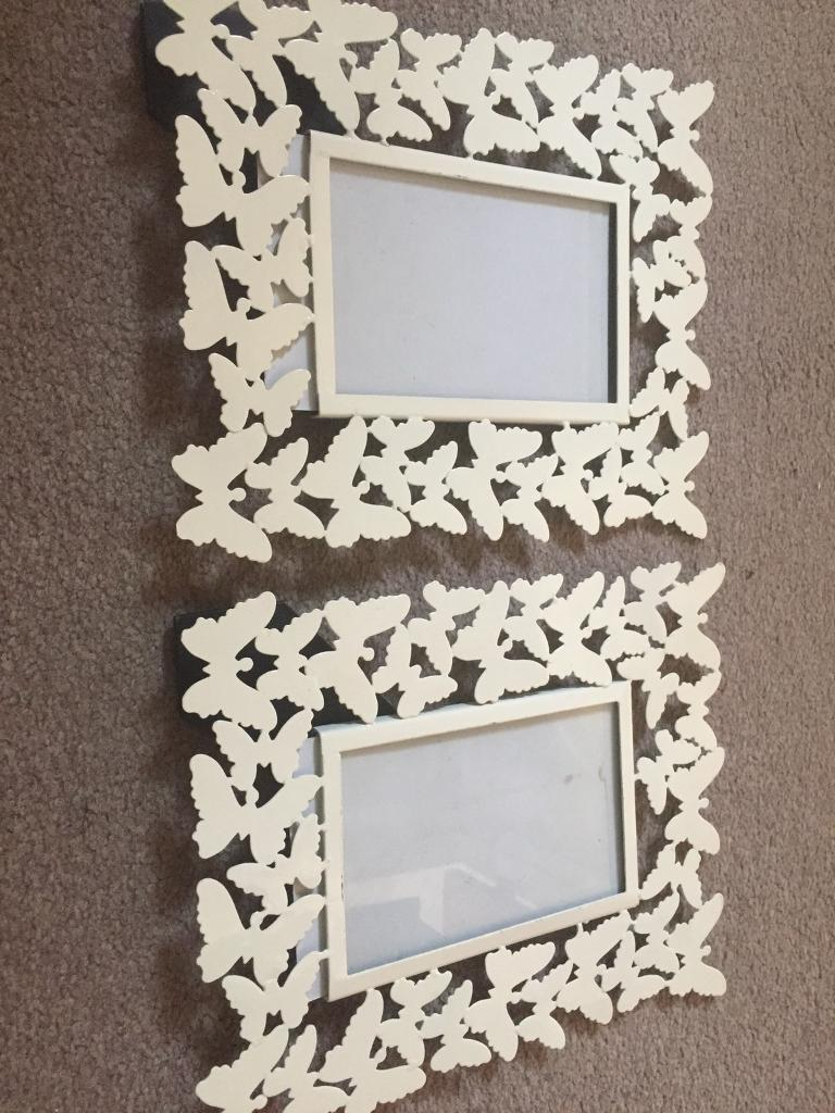Butterfly cream photo frames - bhs | in Bournemouth, Dorset | Gumtree