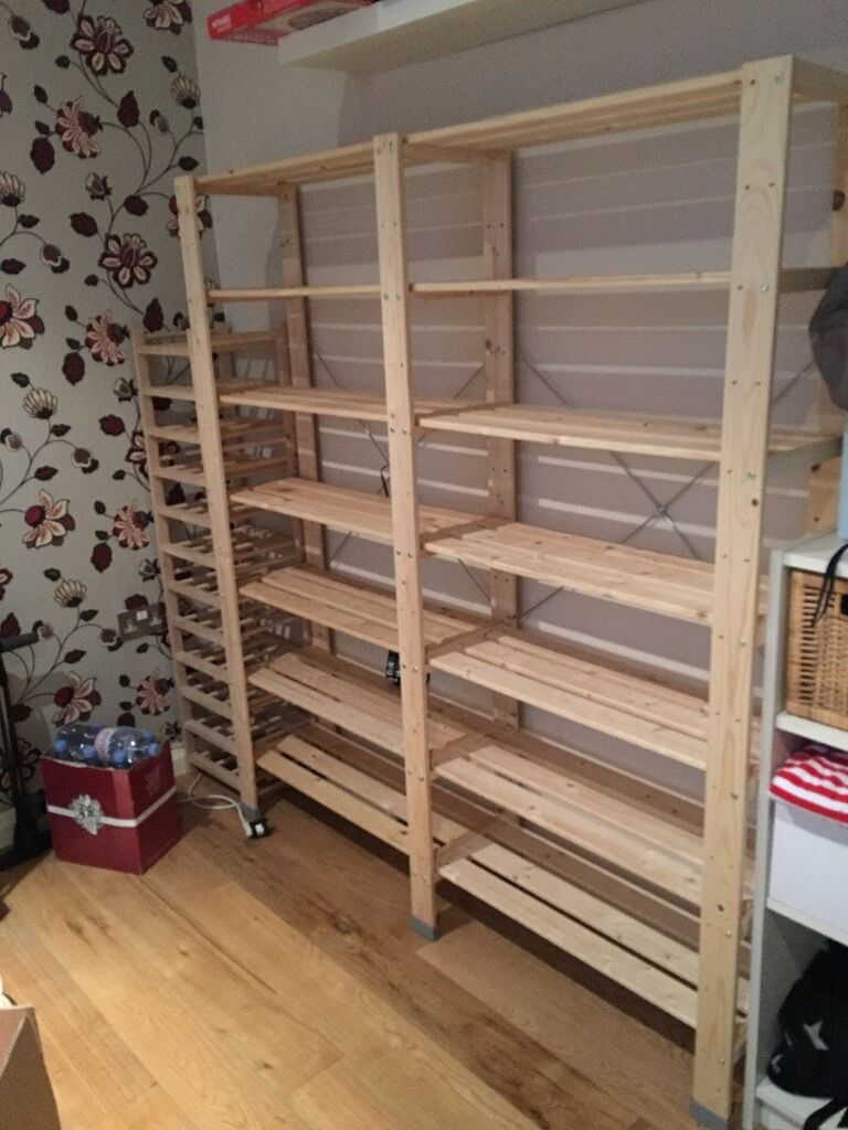 ikea hejne shelf with two sections in lambeth london gumtree. Black Bedroom Furniture Sets. Home Design Ideas