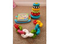 small bundle of baby toys