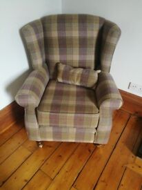 Huntingtower Grape Tweed Armchair