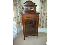 Antique Mahogany Edwardian Glass Display Cabinet