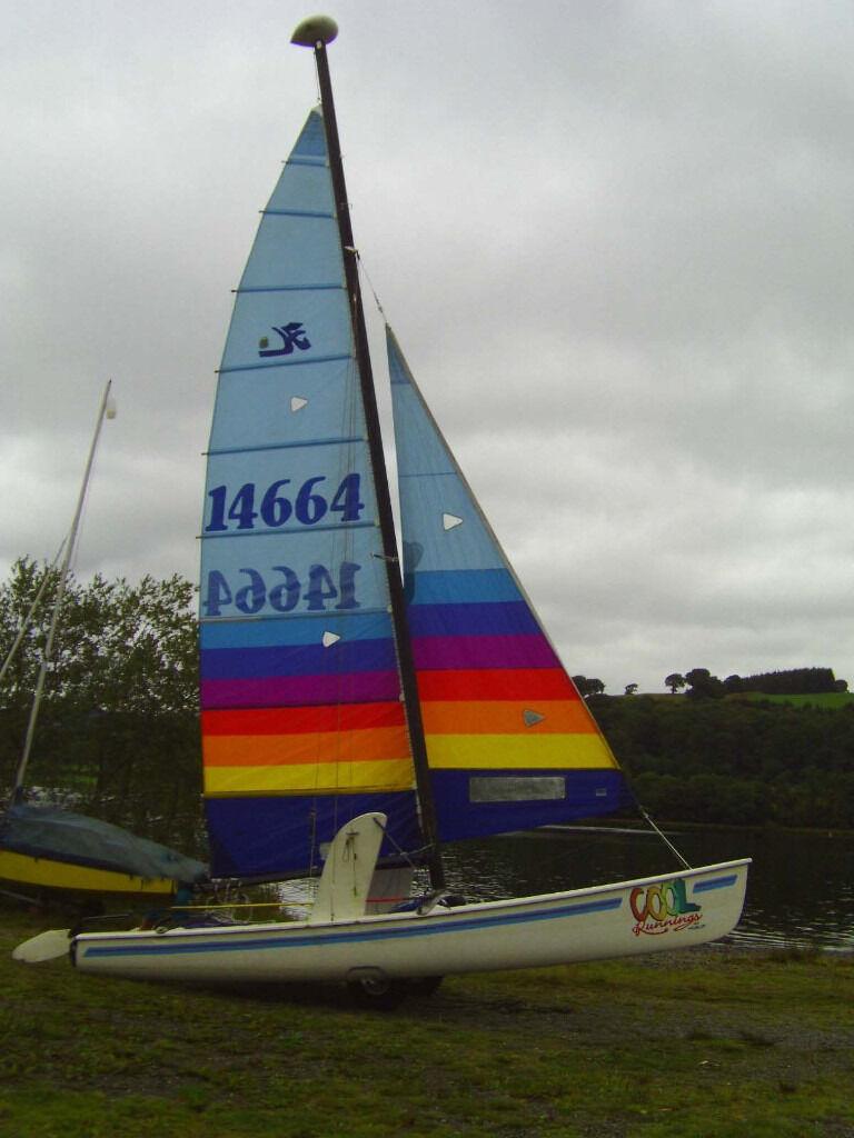 Late 1980s 18foot Hobie Catamaran, Trailer