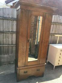 Vintage oak wardrobe