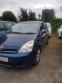 2004 TOYOTA COROLLA VERSO T3 1.4 PETROL BREAKING FOR PARTS