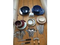 Bundle of Crockery and Cutlery