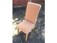 Soft brand new oak colour bedroom lounge chair