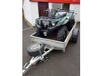 YAMAHA GRIZZLY ULTRAMATIC 450 QUAD AND TRAILER