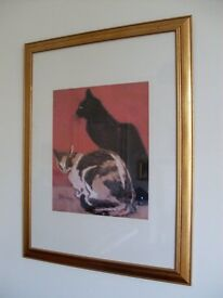 Steinlen glass framed picture
