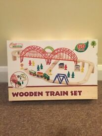 Children's Wooden Train Set