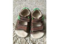 Sandals; Clark's toddler first shoes 4G