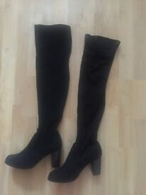 M&S Black Over the Knee Boots