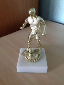Gold Football Trophy