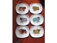 Beefeater steak and grill vintage 1970's plates