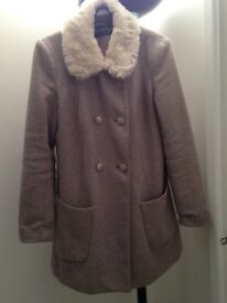 Lovely Pink & Grey Coat - Size 10