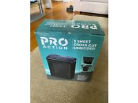 Pro Action 5 Sheet Cross Cut Shredder - Barely used, like new.