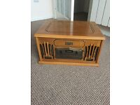 Retro looking record player