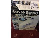 Sit N stroll deluxe portable foot exerciser