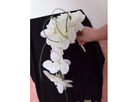 Ivory orchid bouquet