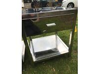 2 x steel bedside cabinets