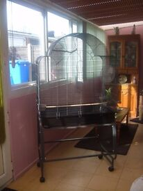 LARGE MONTANA BIRD CAGE AND STAND