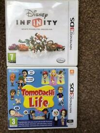 3DS games Tomodachi Life & Disney Infinity
