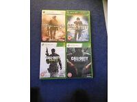 XBOX 360 Call of Duty Games Bundle