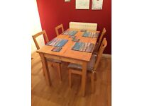 Dining Room Table and 4 chairs for sale
