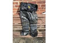 Motorcycle ladies leather trousers
