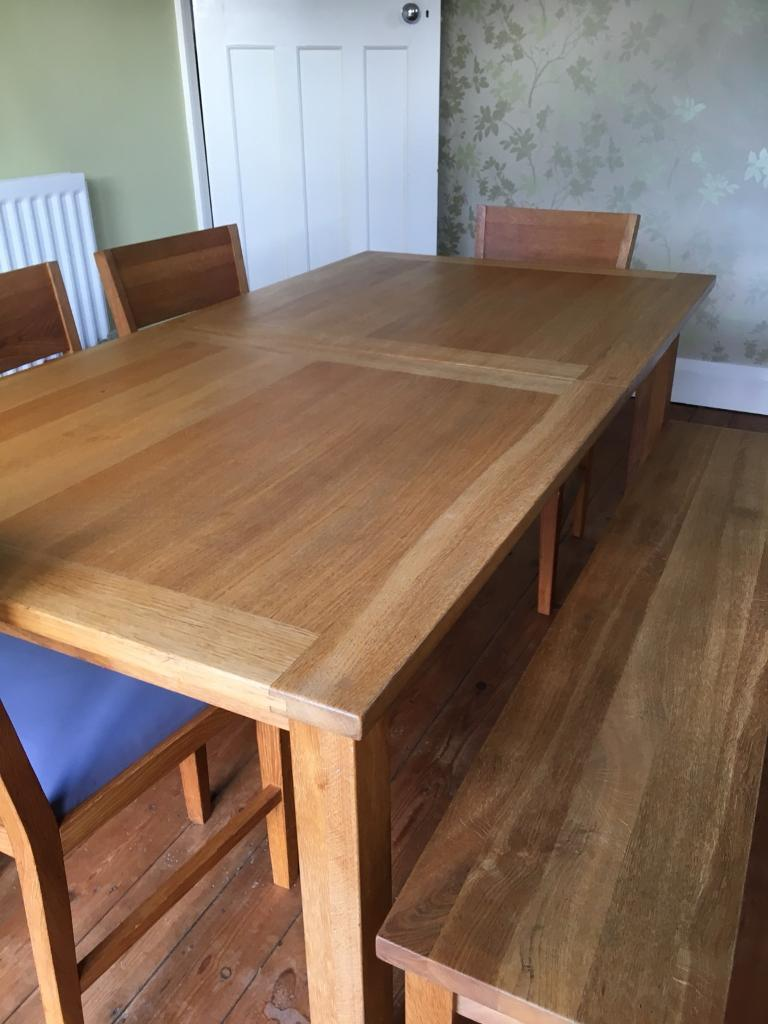 Laura Ashley Solid Oak Dining Table Chairs Bench In Poole Dorset