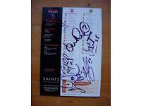 SOUTHAMPTON v NORWICH 2005 -MINT CONDITION PROGRAMME- SIGNED BY 7 SAINTS PLAYERS