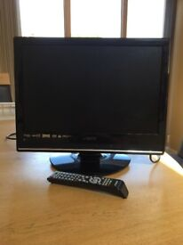 """19"""" THTF HD ready digital LCD TV with integrated DVD player"""