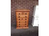 Solid wooden draws 5 plus 2 draws