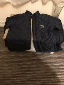 Men's Back Fastening Quilted Jacket