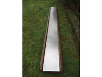 12ft Stainless Steel and Hardwood Childrens Slide