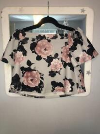 Off the shoulders floral top
