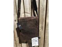 New-Leather-Visconti- Brown-Messenger Bag-Cost £70-Only £15