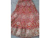 Red Wedding Bridal lengha Dress
