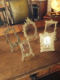 Antique brass picture frames