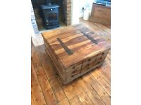 Solid wood chest/coffee table