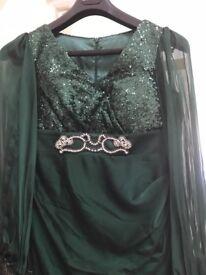 Maxi Long Dark Emerald Green, Gown (worn once)