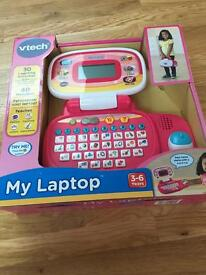 Vtech girls pink laptop