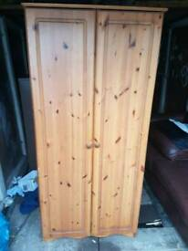 Pine wardrobe and draws