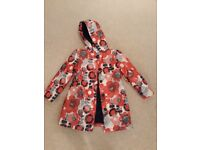 Red white and blue waterproof coat