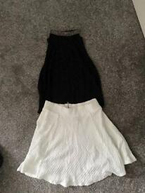 Top and short skirt