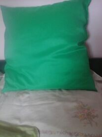 Large emerald green cushion